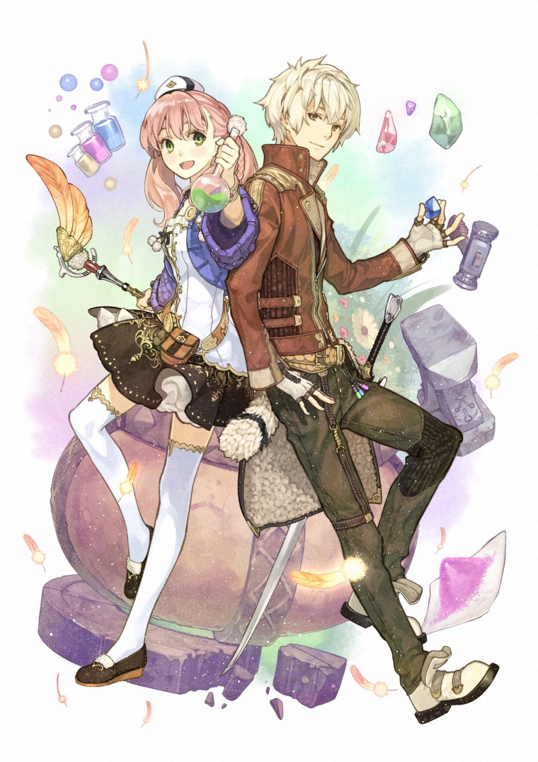 Atelier Escha & Logy Plus (Vita)_Main Visual